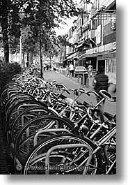 amsterdam, bicycles, europe, streets, vertical, photograph