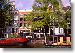 amsterdam, boats, europe, horizontal, waterways, photograph