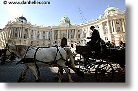 austria, buildings, carriage, drivers, europe, horizontal, vienna, photograph