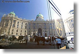 austria, buildings, europe, horizontal, reflections, ups, vienna, photograph