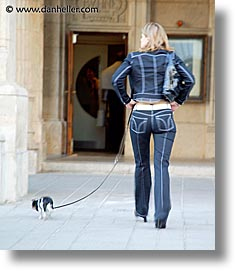 austria, dogs, europe, people, vertical, vienna, walkers, photograph