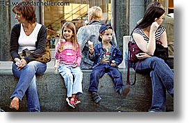 austria, childrens, cream, europe, horizontal, ice, people, vienna, photograph