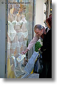 austria, europe, lingerie, men, people, shopping, vertical, vienna, photograph