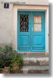 blues, cres, croatia, doors, europe, vertical, photograph