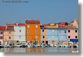 boats, colorful, colors, cres, croatia, europe, harbor, horizontal, towns, photograph