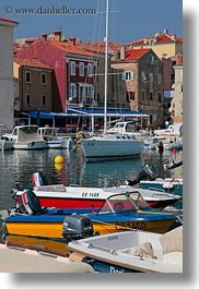 boats, colorful, colors, cres, croatia, europe, harbor, towns, vertical, photograph