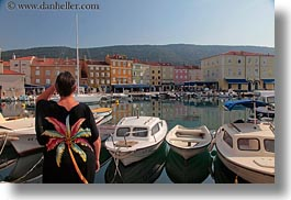 boats, colorful, colors, cres, croatia, europe, harbor, horizontal, towns, womens, photograph