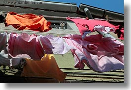 colorful, colors, cres, croatia, europe, hangings, horizontal, laundry, perspective, upview, photograph