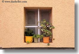 cres, croatia, europe, horizontal, plants, potted, windows, photograph