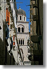 architectures, colorful, croatia, dubrovnik, europe, shutters, towers, vertical, photograph