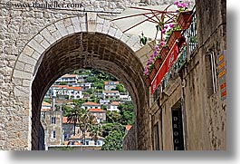 architectures, archways, croatia, dubrovnik, europe, horizontal, stones, photograph