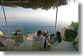 cafes, cliff cafe, croatia, dubrovnik, europe, horizontal, loungers, ocean, people, photograph