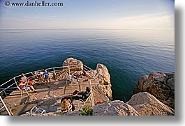 cafes, cliff cafe, cliffs, croatia, dubrovnik, europe, horizontal, ocean, people, photograph