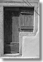 black and white, combo, croatia, doors, doors & windows, dubrovnik, europe, vertical, windows, photograph