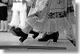 black and white, clothes, clothing, croatia, dancing, dubrovnik, europe, folk dancing, horizontal, shoes, womens, photograph