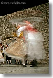couples, croatia, dance, dancing, dubrovnik, europe, folk dancing, people, slow exposure, vertical, photograph
