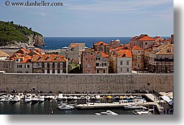 boats, croatia, dubrovnik, europe, harbor, horizontal, towns, photograph
