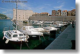 boats, croatia, dubrovnik, europe, harbor, horizontal, photograph
