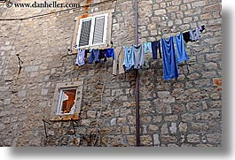 croatia, dubrovnik, europe, hangings, horizontal, laundry, photograph