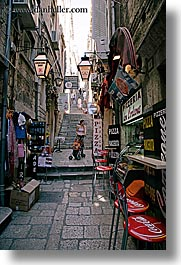 babies, cafes, croatia, dubrovnik, europe, mothers, narrow streets, stroller, vertical, photograph