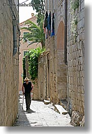 croatia, dubrovnik, europe, men, narrow streets, old, vertical, walking, photograph