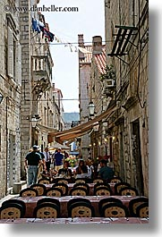 cafes, croatia, dubrovnik, europe, narrow streets, outdoors, vertical, photograph