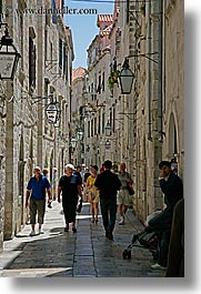 croatia, dubrovnik, europe, narrow streets, people, streets, vertical, photograph