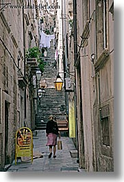 alleys, croatia, dubrovnik, europe, narrow streets, people, vertical, photograph