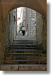 croatia, dubrovnik, europe, narrow streets, people, stairs, vertical, photograph