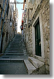 alleys, croatia, doors, dubrovnik, europe, narrow streets, stairs, vertical, photograph