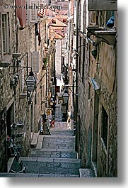alleys, croatia, dubrovnik, europe, narrow streets, stairs, vertical, photograph