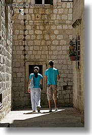 aqua, colors, couples, croatia, dubrovnik, europe, people, vertical, photograph