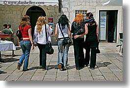 croatia, dubrovnik, europe, five, gang, girls, horizontal, people, teenagers, photograph
