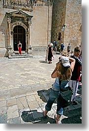 croatia, dubrovnik, europe, friends, girls, people, photographers, photographing, teenagers, vertical, photograph
