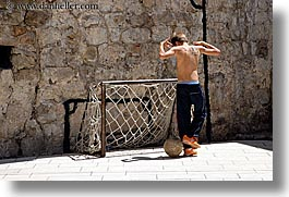 boys, croatia, dubrovnik, europe, horizontal, people, soccer, photograph