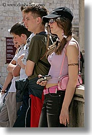 croatia, dubrovnik, europe, people, teenagers, vertical, photograph