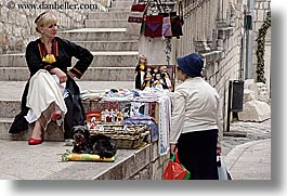 croatia, dubrovnik, europe, horizontal, old, people, vendors, womens, photograph