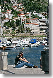 croatia, dubrovnik, europe, harbor, people, teenagers, vertical, womens, photograph