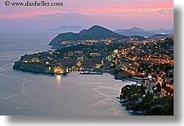 cityscapes, croatia, dubrovnik, europe, horizontal, long exposure, ocean, sunsets, photograph