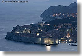 cityscapes, croatia, dubrovnik, europe, harbor, horizontal, long exposure, ocean, sunsets, photograph