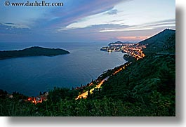 cityscapes, croatia, dubrovnik, europe, horizontal, ocean, slow exposure, sunsets, photograph