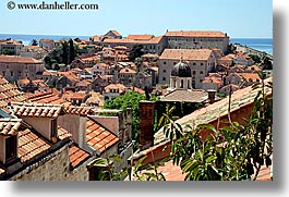 croatia, dubrovnik, europe, horizontal, rooftops, town view, photograph