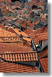 croatia, dubrovnik, europe, rooftops, town view, vertical, photograph