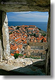 cityscapes, croatia, dubrovnik, europe, stones, town view, towns, vertical, windows, photograph