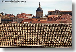 croatia, dubrovnik, europe, horizontal, men, photographing, rooftops, town view, photograph