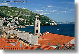 croatia, dubrovnik, europe, horizontal, monastery, monestaries, rooftops, towers, town view, photograph