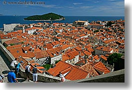 cityscapes, croatia, dubrovnik, europe, horizontal, overlook, people, town view, townview, photograph