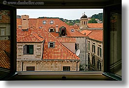 croatia, dubrovnik, europe, horizontal, rooftops, town view, windows, photograph