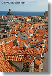 cityscapes, croatia, dubrovnik, europe, rooftops, town view, townview, vertical, photograph