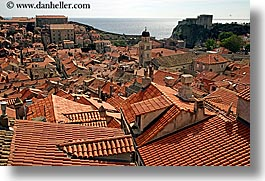 cityscapes, croatia, dubrovnik, europe, horizontal, rooftops, town view, townview, photograph